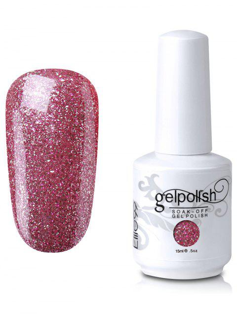 15ml Elite99 Soak-Off UV LED Gel Polish Nail Art Glitter Clear - 06