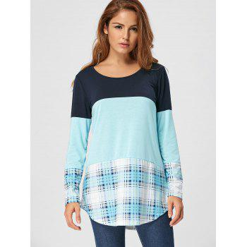Lace Panel Plaid Tee - S S