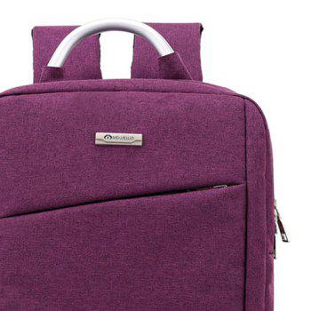 Laptop Metal Embellishment Backpack - PURPLE