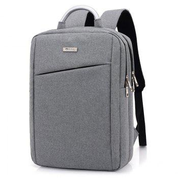 Laptop Metal Embellishment Backpack - LIGHT GRAY