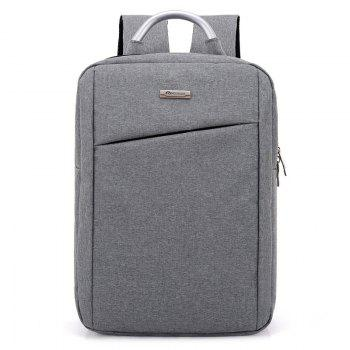 Laptop Metal Embellishment Backpack - LIGHT GRAY LIGHT GRAY