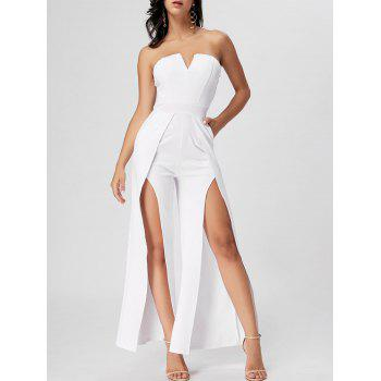 Strapless High Slit Maxi Jumpsuit