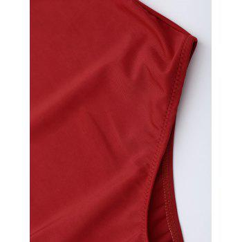 Criss Cross One Piece Swimsuit - RED 2XL