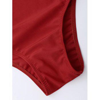 Criss Cross One Piece Swimsuit - RED L