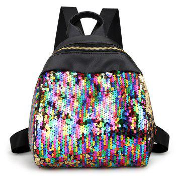 Sequins PU Leather Backpack - COLORFUL COLORFUL