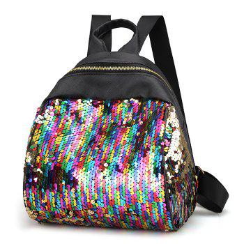 Sequins PU Leather Backpack - COLORFUL