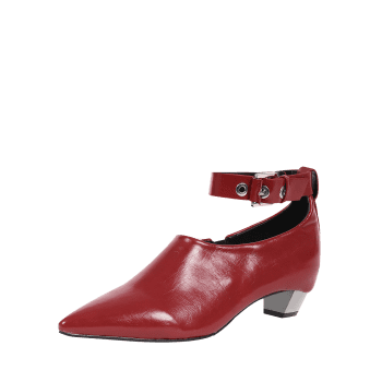 Chaussures plates avec oeillet pointu Toe Ankle Strap - Rouge 37