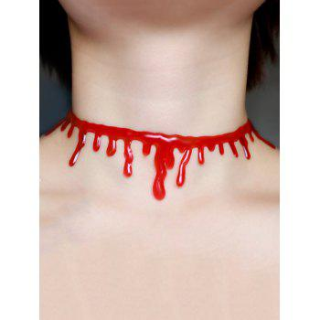 Collier Choker Halloween Sanguin Plastique