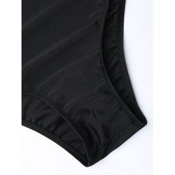 Criss Cross One Piece Swimsuit - BLACK BLACK