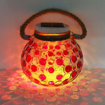 Romantic Color Changing Solar Glass Jar Hanging Light - RED RED