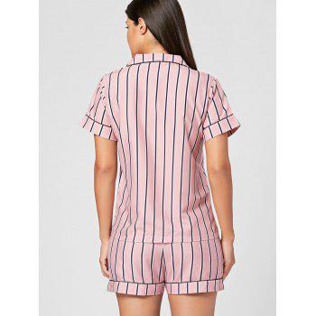 Ensemble de chemises à pyjama rayé - Rose Clair ONE SIZE