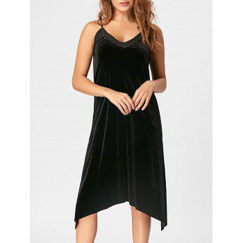 Open Back Velvet Slip Dress