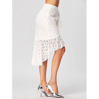 High Low Lace Skirt with Flounce - XL XL