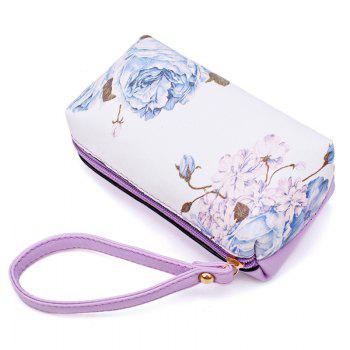 Flower Print 6 Pieces Shoulder Bag Set - PURPLE