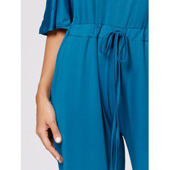 Drawstring Maxi Wide Leg Jumpsuit - OASIS XL