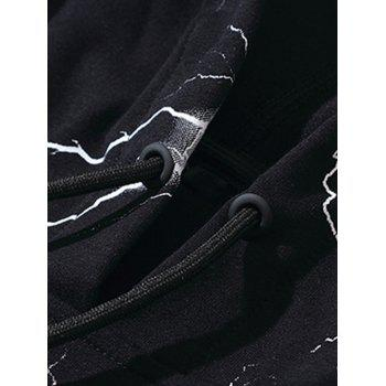 Hoodie Sports Sports Light Lightning - Noir 3XL