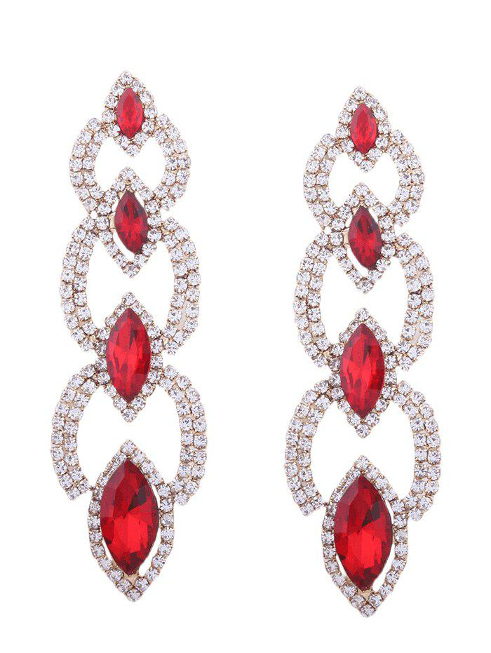 Faux Gem Rhinestone Sparkly Party Earrings