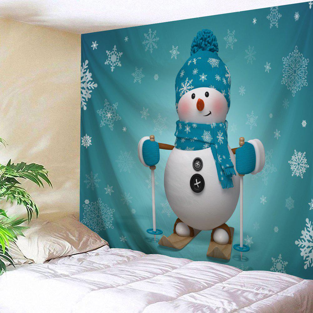 Christmas Snowman Print Tapestry Wall Hanging Art