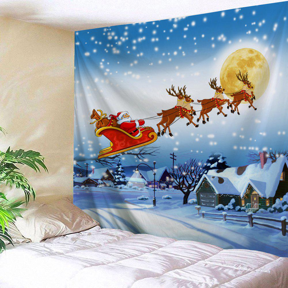 Christmas Village Print Tapestry Wall Hanging Art