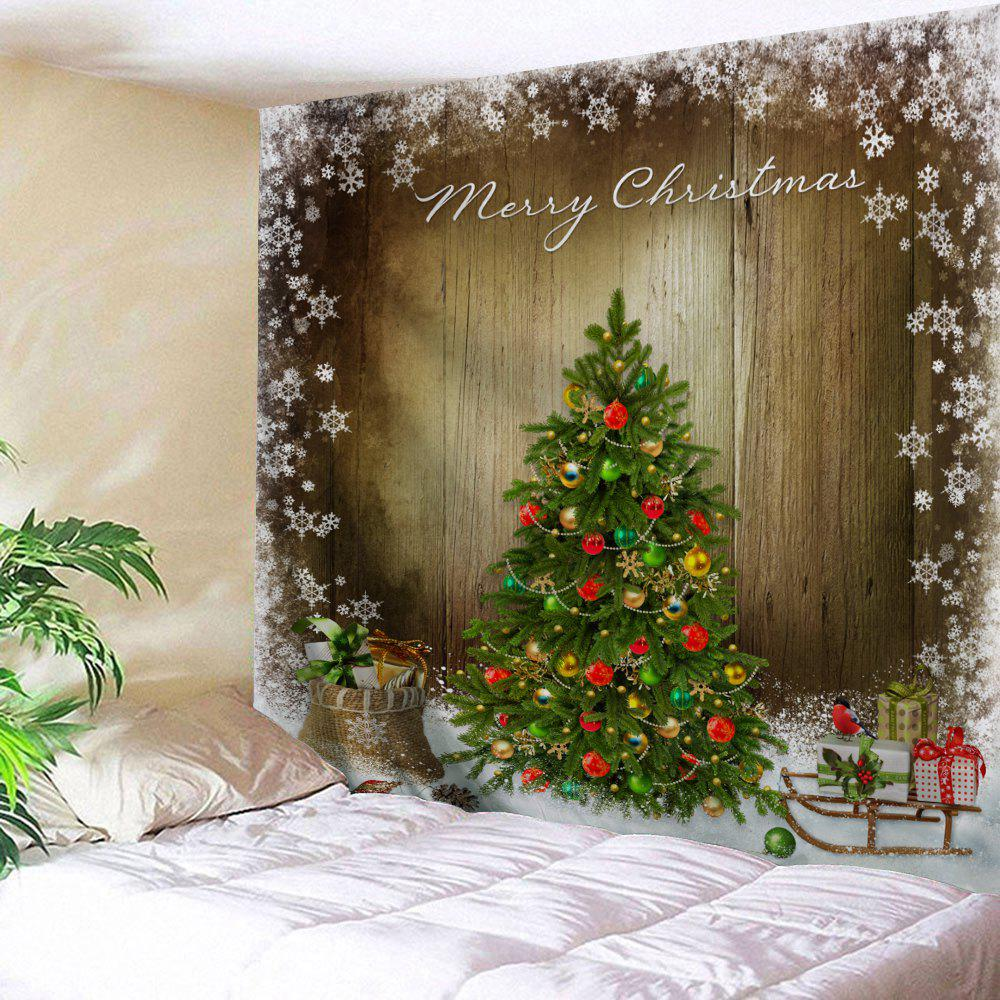 Christmas Tree Print Tapestry Wall Hanging Art christmas tree snowman printed wall tapestry