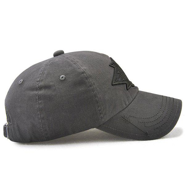 X Battle Embroiderie Badge Embellished Baseball Hat - gris foncé