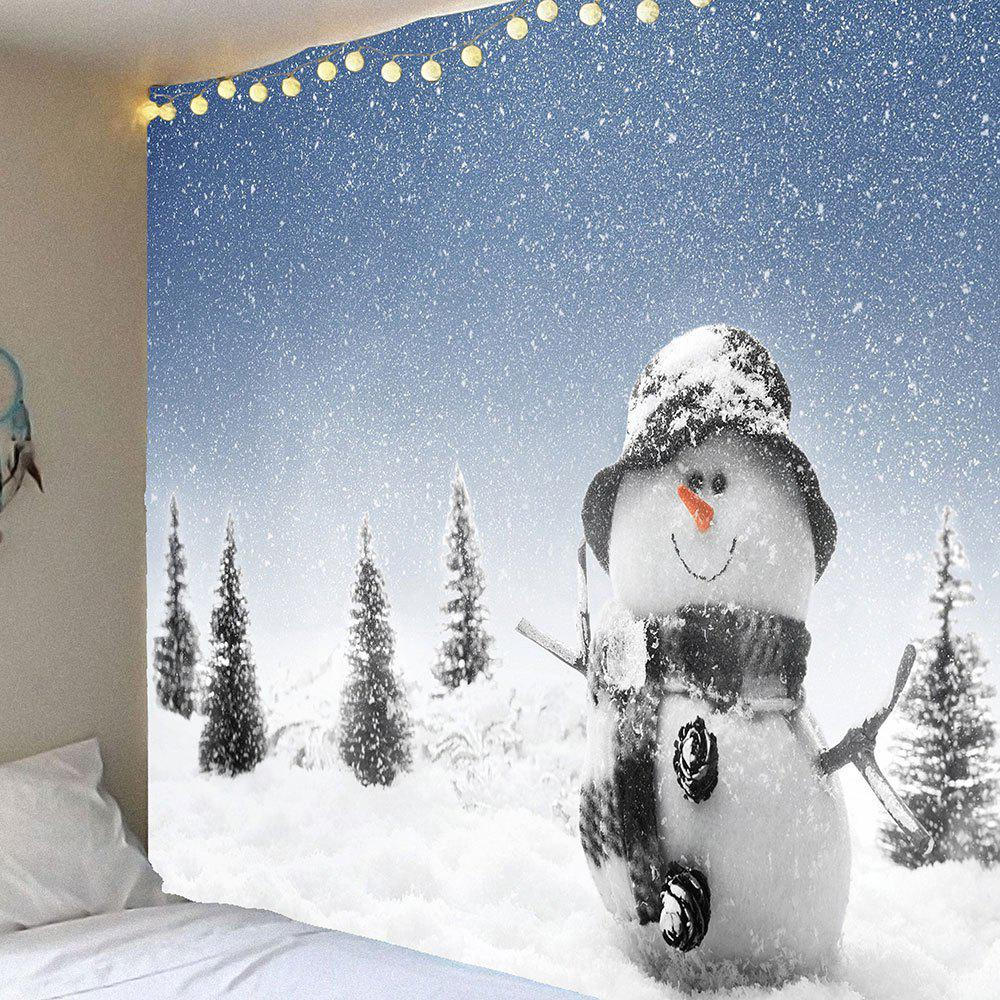 Waterproof Christmas Snowman Printed Wall Hanging Tapestry alpine ute 81r в харькове