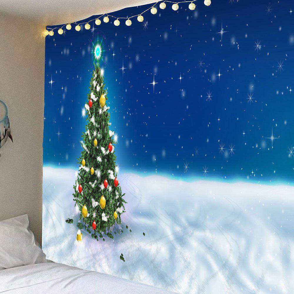 Snow Starry Night Christmas Tree Printed Hanging Wall Tapestry putti starry night 120x60 8 предметов