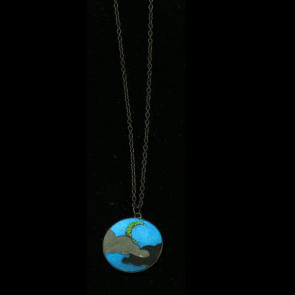 Glow in the Dark Moon Cloud Collier - SILVER