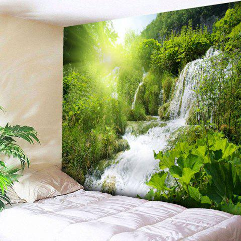 Natural Scenery Print Wall Hanging Tapestry - GREEN W91 INCH * L71 INCH