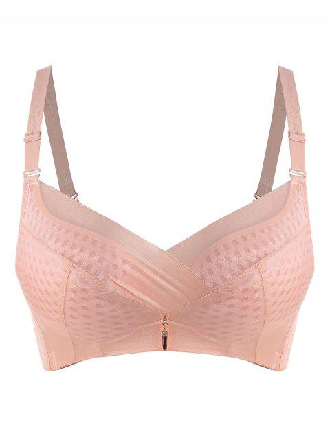 14730865f5 LIMITED OFFER  2019 Breathable Plus Size Underwire Bra In LIGHT PINK ...