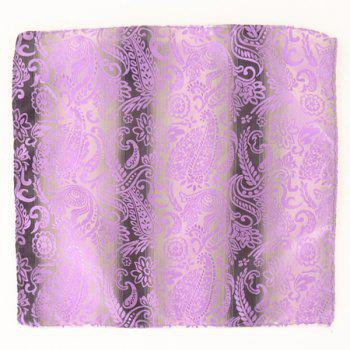 Paisley Jacquard Stripe Printed Pocket Square - SUEDE ROSE SUEDE ROSE