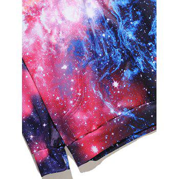 Kangaroo Pocket Colormix Galaxy Print Hoodie - COLORMIX XL