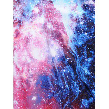 Kangaroo Pocket Colormix Galaxy Print Hoodie - COLORMIX 3XL