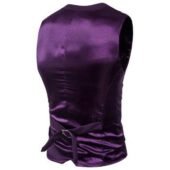 Gilet à bonnet à bretelles isolées en satin simple - Pourpre 2XL