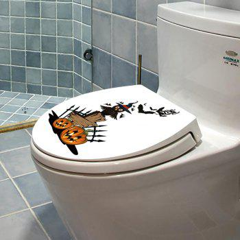 Halloween Pumpkin Owl Toilet Sticker - MANDARIN