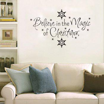Christmas Letter Snowflake Wall Art Stickers
