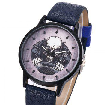 Driving Skeleton Face Quartz Watch -  BLACK