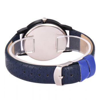 Smoking Skull Face Quartz Watch -  DEEP BLUE