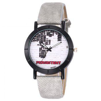 Brick Wall Face Quartz Watch - LIGHT GRAY LIGHT GRAY