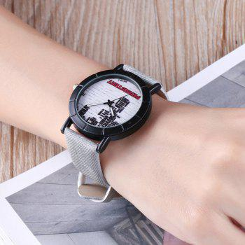 Brick Wall Face Quartz Watch -  LIGHT GRAY