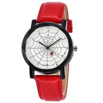 Spider Web Face Analog Watch - RED RED
