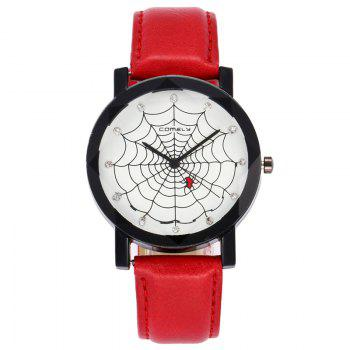Spider Web Face Analog Watch - RED