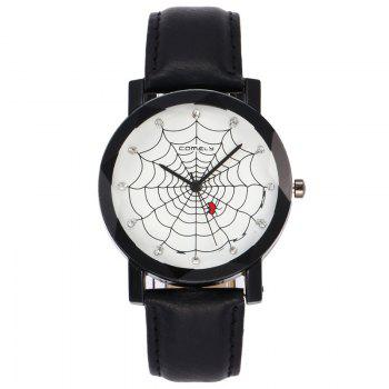 Spider Web Face Analog Watch - BLACK