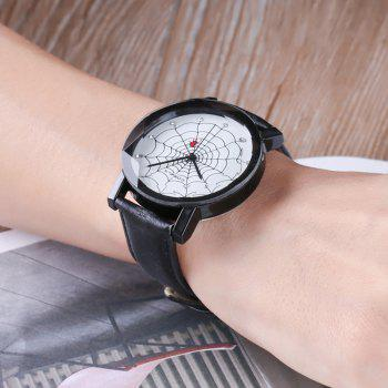 Spider Web Face Analog Watch - Noir
