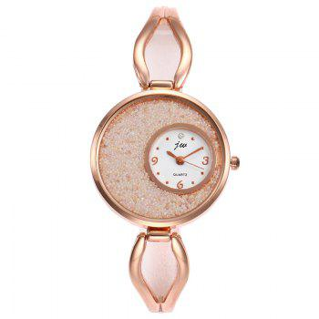 Alloy Strap Sands Face Analog Watch - WHITE