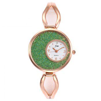 Alloy Strap Sands Face Analog Watch -  GREEN