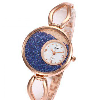 Alloy Strap Sands Face Analog Watch - PINK