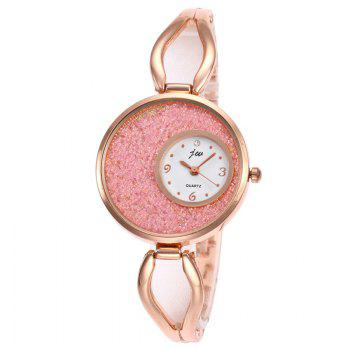 Alloy Strap Sands Face Analog Watch - PINK PINK