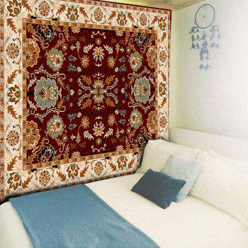 Ethnic Graphic Wall Hanging Tapestry - DARK AUBURN W79 INCH * L59 INCH