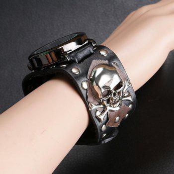 Gothic Style Skull Rivet Watch -  BLACK